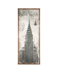 New York Design Oblong Wall Canvas