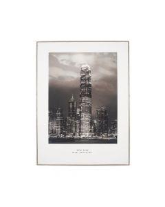 Mono Hong Kong Print with Silver Frame