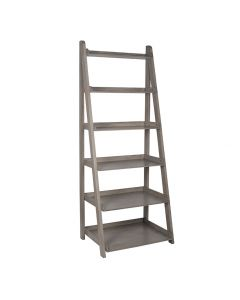Ashwell Taupe Pine Wood 6 Tier Bookcase K/D