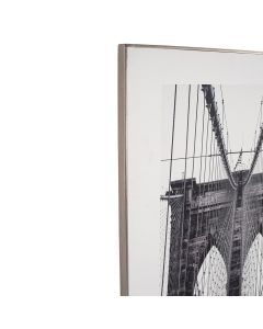 Mono New York Print with Silver Frame