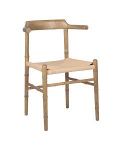 Oak Coloured Elm Wood & Paper Chair