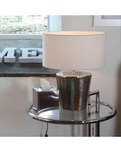 Distressed Wood Table Lamp
