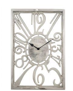 Shiny Nickel Oblong Wall Clock