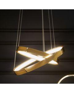 Gold LED Circles Pendant
