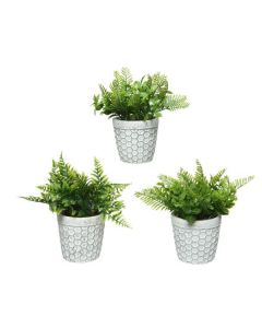 Mix of 3 Plants Artificial Plant in Pot