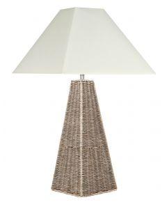 Rattan Pyramid Table Lamp