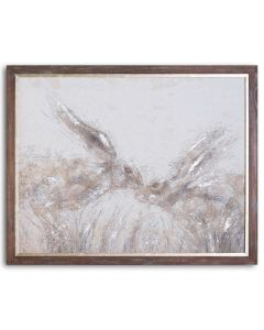 March Hares On Cement Board With Frame
