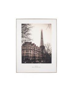 Mono Paris Print with Silver Frame