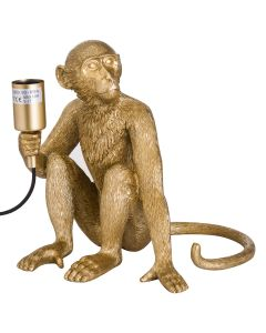 George The Monkey Gold Table Lamp