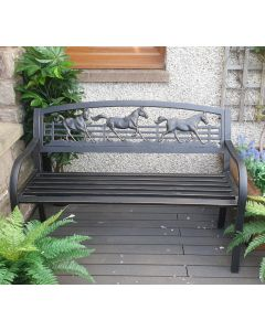 Galloping Horses Bench