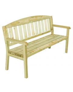 Evlo 3 Seat Bench. Green Impregnated