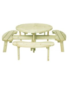 Evlo Round Picnic Table