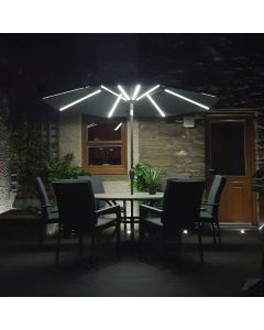 Elite 270cm LED Solar Parasol - Anthracite