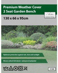 Premium 2 Seat Garden Bench Weathercover