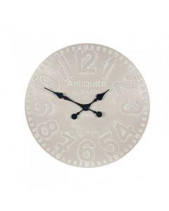 Dove Grey Wood Round Wall Clock