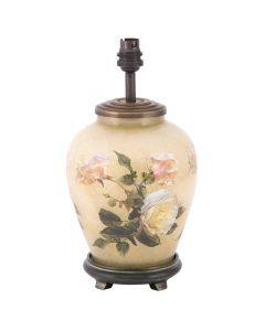 Classic Rose Small Glass Table Lamp