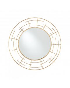 Gold Metal Frame Round Wall Mirror