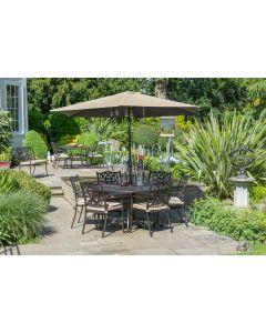 Devon 6 Seat Dining Set with 3.0m Parasol