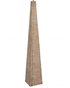 Rattan Pyramid Floor Lamp