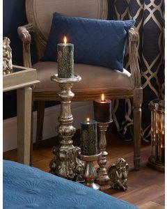 Silver Polyresin & Fibre Glass Candlestick