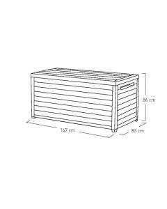 x  x l Deck Box 870Ltr Capaci