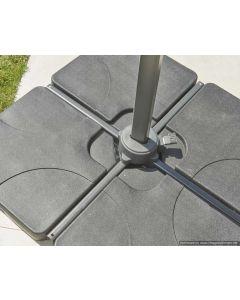 4  x  20kg Concrete Base Segments